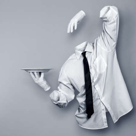 Invisible Man with a plate in his hand