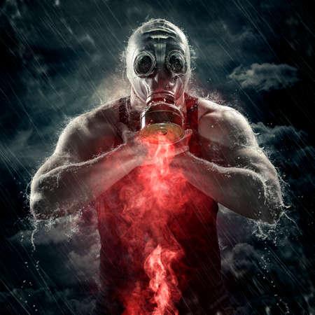 poisonous red smoke photo