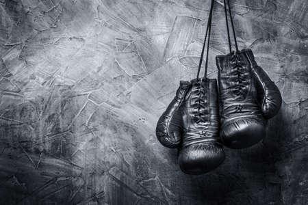 old boxing gloves Banque d'images