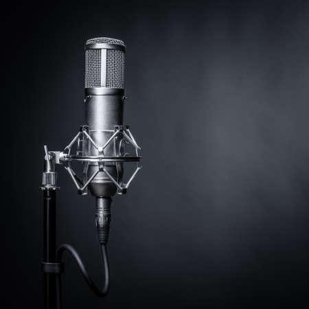 microphone: studio microphone Stock Photo