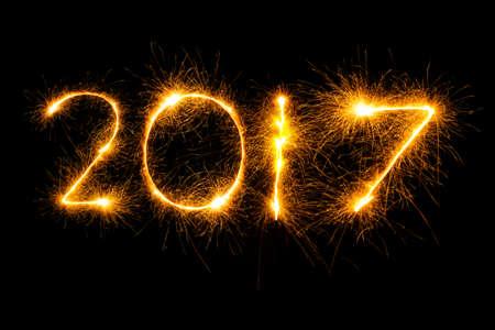 New Year 2017. Sparkler