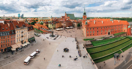 Panoramic view of Stare Miasto in Warsaw Old town in Poland Stock Photo