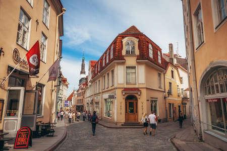 Tallinn, Estonia - June 30, 2013: Lovely house on the street in Tallinn.