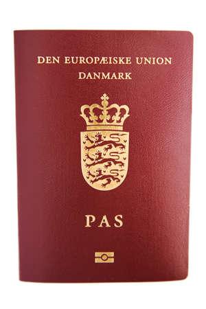 Danish passport Stock Photo