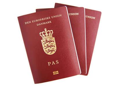 Three danish passports