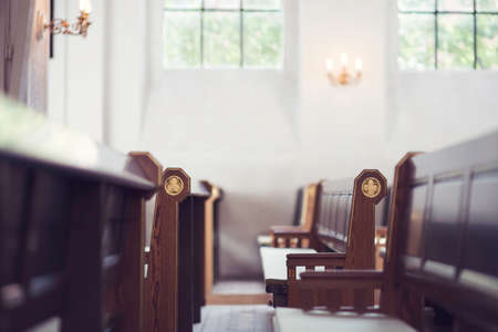 soul searching: Church benches