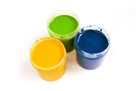 guache: Tres colores de Aguada de arte