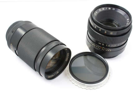 Two lenses and photofilter for phototechnics