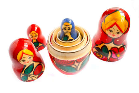 matreshka - the traditional russian souvenir, wooden doll