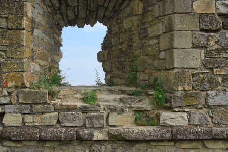 loophole: The loophole of medieval fortress in Carpathians, Ukraine