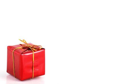 god box: red gift on white background