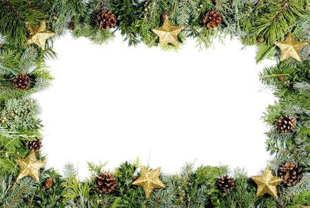 holyday: christmas green frame, christmas decoration