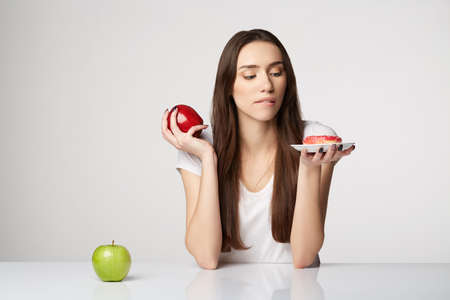 woman beauty girl with fruits