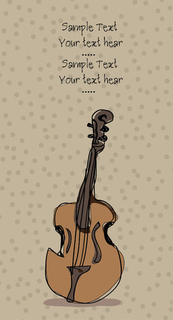 double bass: double bass background illustration