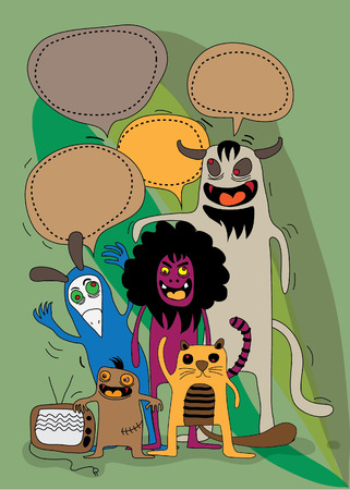 whimscal: monsters character Illustration