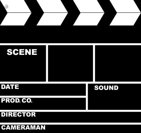 Isolated  black retro Slate Board for sinema