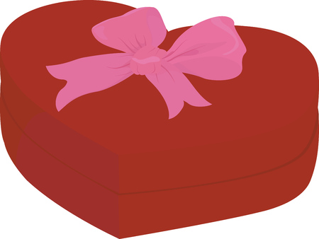 pink cap: Red heart shape box with cap isolated on white background with pink bow