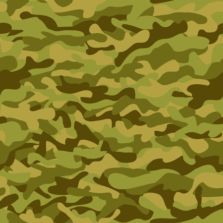 undercover: Seamless vector square camouflage green pattern, background