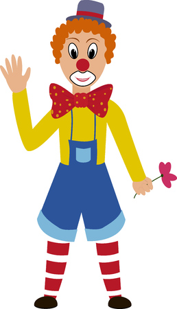 prankster: cartoon funny  clown with grim painted face Illustration