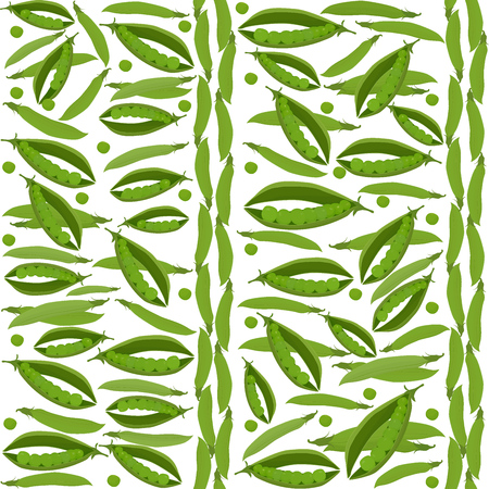 green peas: Green peas seamless vegetable pattern on white background