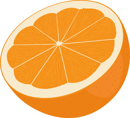 orange cut: Orange cut in half. Citrus isolated on white, fresh fruit