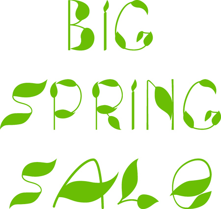 spring sale: Spring sale text design template