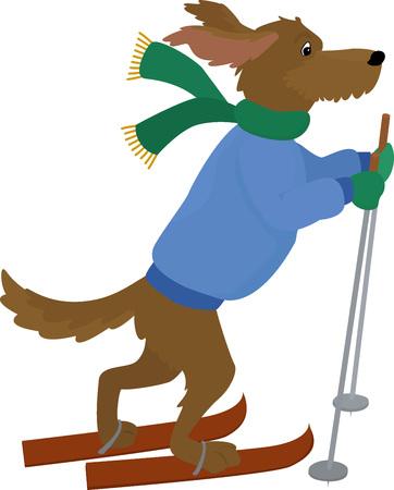 Yellow Dog symbol 2018.Cartoon vector dog