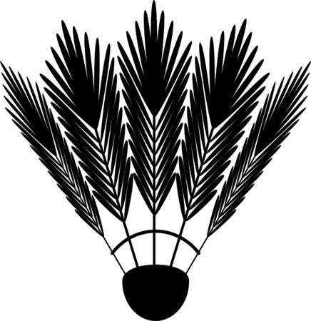 badminton shuttlecock icon. black on white
