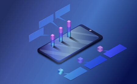 Smart phone and graph. Analysis and statistic