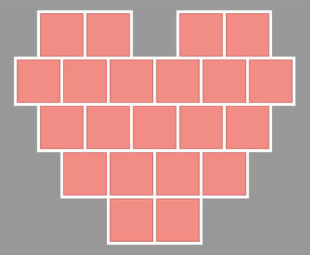 Valentines Day  collage frames template