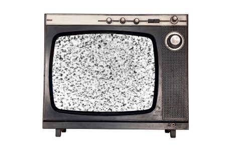 tv antiga sem o ru�do do sinal Banco de Imagens