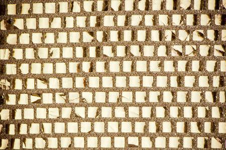 mosaico quadrado de ouro