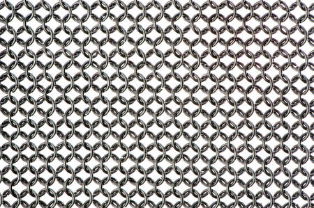 background or texture of chain mail armour  Isolated object at white background  Stock Photo