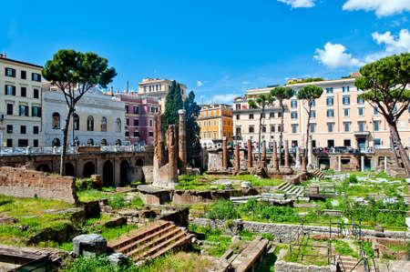 ancient ruins - Largo di Torre Argentina in Rome