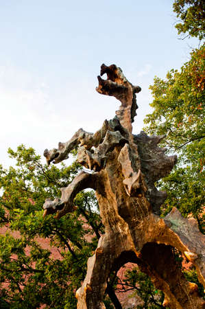 wawel: Statue of Dragon of Wawel Hill in Cracow