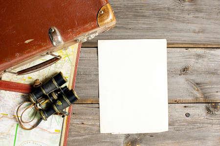 旅行の手配や空白のチェックリスト 写真素材
