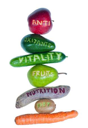 heap of fruits and vegetables Standard-Bild