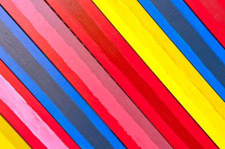 aslant: diagonally colorful wooden boards background Stock Photo