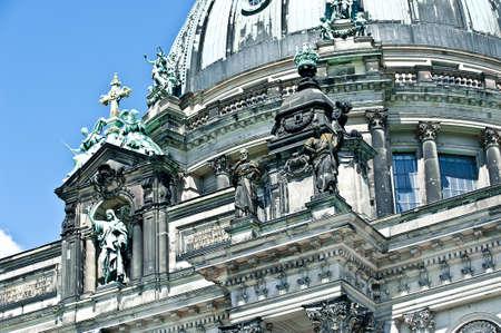 dom: La cathédrale de Berlin Berliner Dom détails de façade