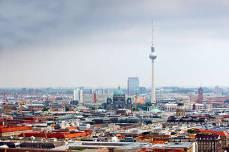 in copula: tv-tower and Cathedral in Berlin downtown