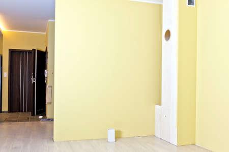 livingroom: Installation of fireplace insert in livingroom step 1