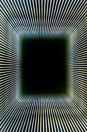 theoretical: Abstract background created by convergent lines producing  long 3D  tunnel and black hole