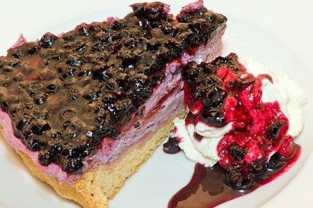Piece of berry cake  Stock Photo