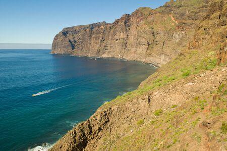 The cliffs at Los Gigantes Stock Photo