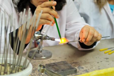 Artist shaping glass Stock Photo