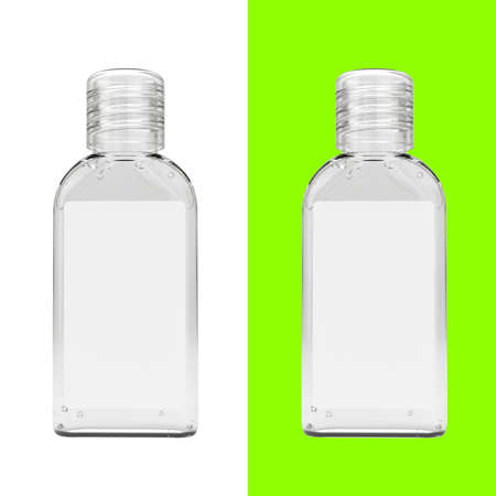 Realistic sanitizer gel bottle. Gel or cream bottle dispenser. Pump 60ml container template. Hand sanitizer in 60ml bottle. Stock fotó