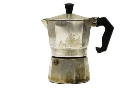 Old Coffe Cooker Isolated on White photo