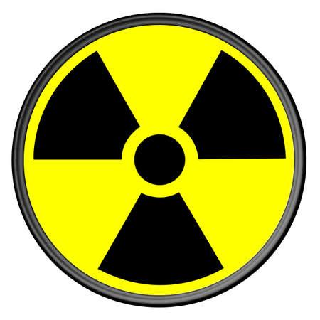 radio active: Radiation Sign Clean Circle