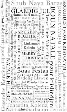 multilingual: Merry Christmas Mutilingual Design Stock Photo