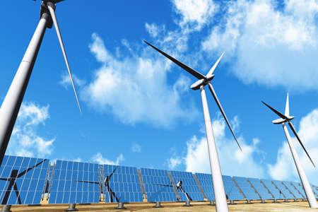 aero generator: Solar Panels and Wind Turbines
